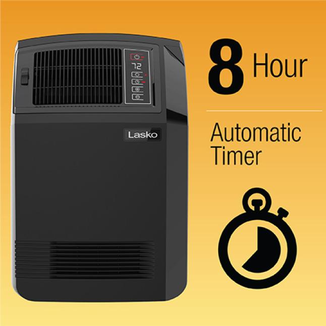 8-Hour Automatic Timer for Peace of Mind
