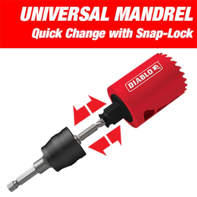 This is an image of Diablo's universal mandrel quick change with snap-lock.