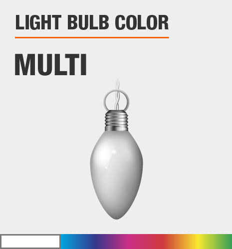 Light bulb color is multi