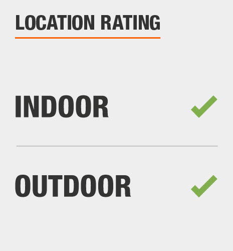This item is rated for indoor and outdoor