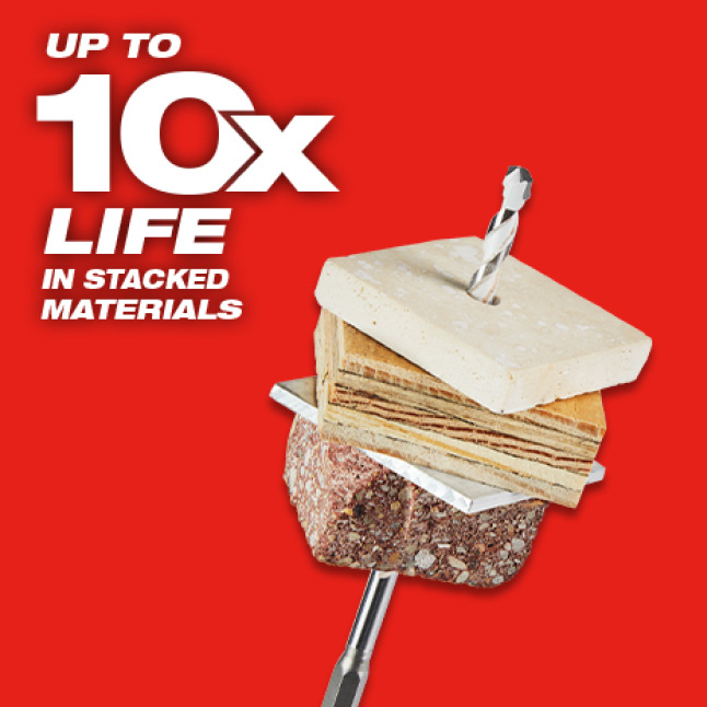 Up to 10x life In Stacked Materials