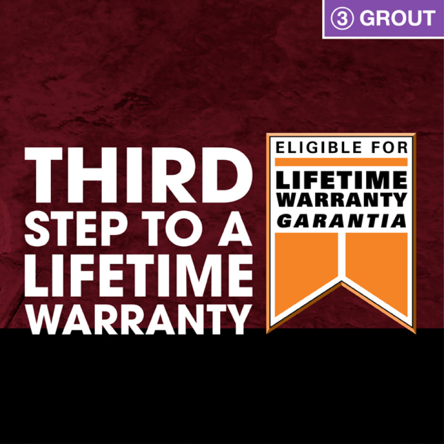 Step 3 to lifetime warranty