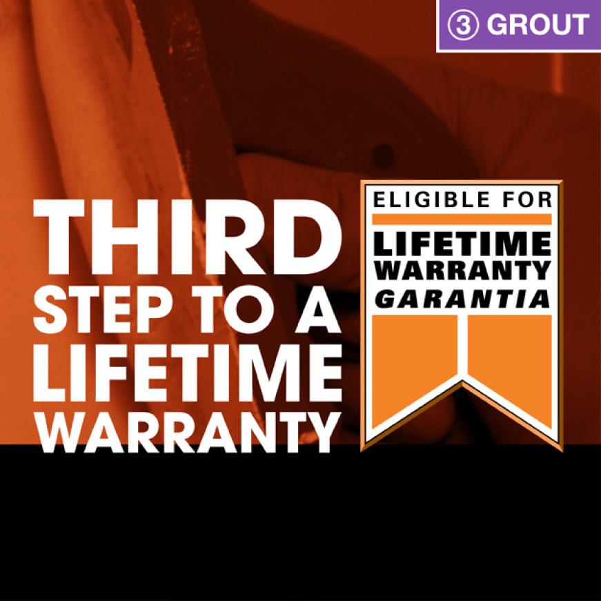 Step 3 to lifetime warranty