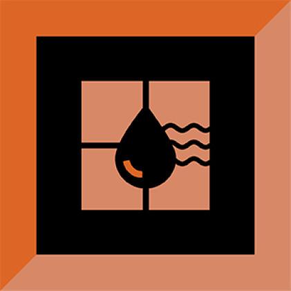 Wet or underwater tile