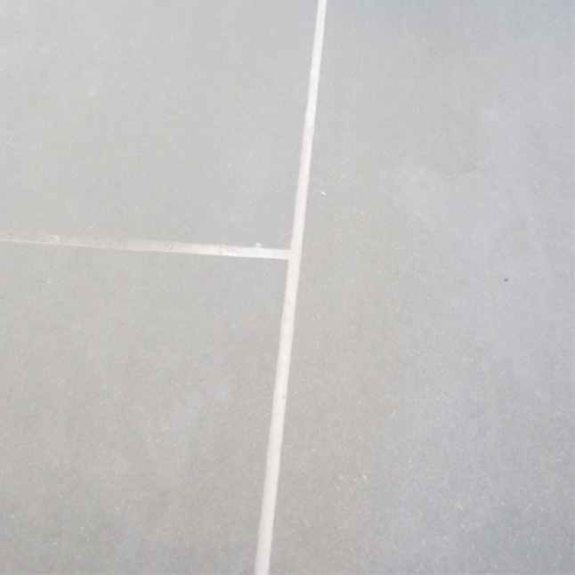 Bright White Grout Joints