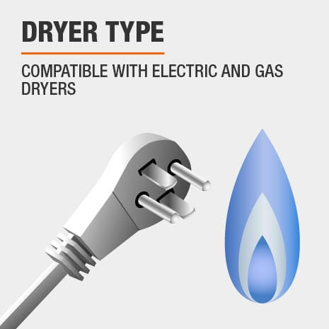 Compatible with Electric and Gas Dryers