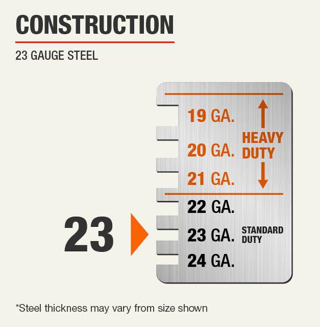 23 Gauge Steel Construction