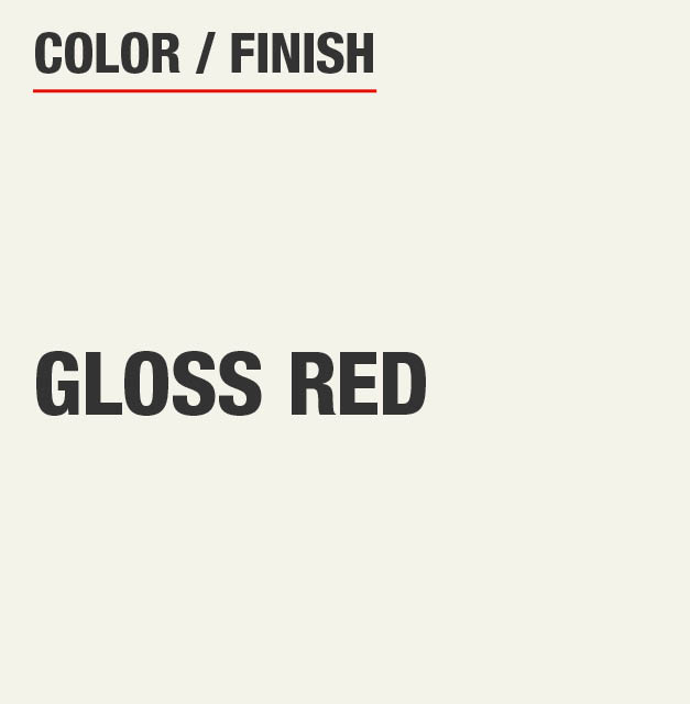 Gloss Red Garage Cabinet