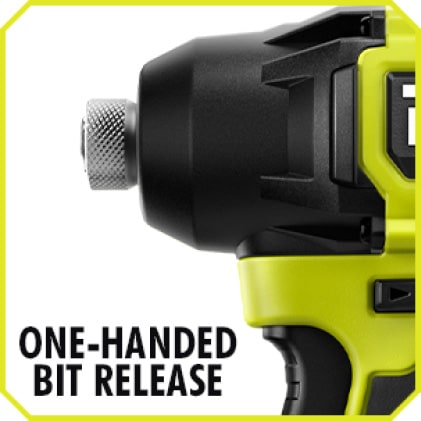 Impact Driver: One-Handed Bit Release