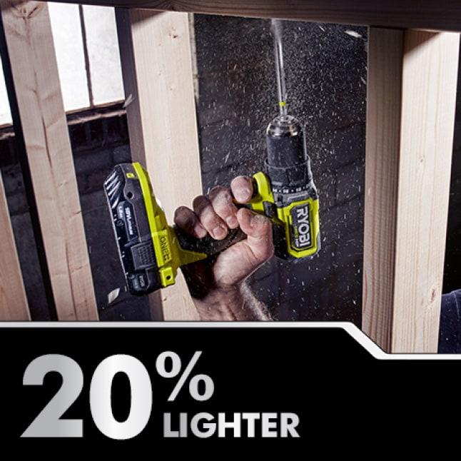 Drill: 20% Lighter Weight