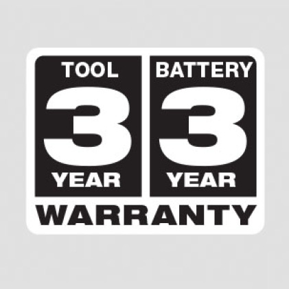 3 year tool, 3 year battery warranty