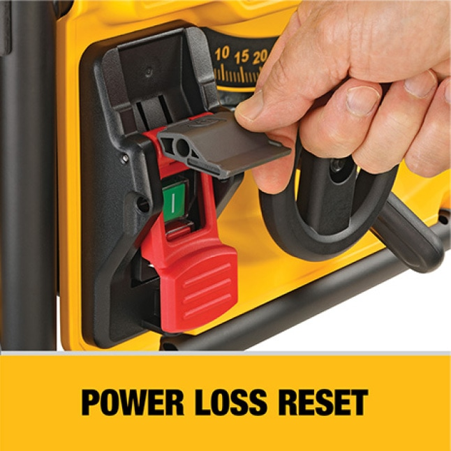 Power-loss reset helps prevent accidental restarts following a power disruption when the tool is left in the on position.