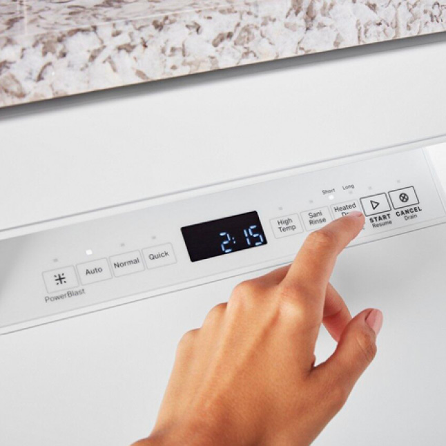 Touch controls provide seamless access to powerful cleaning.