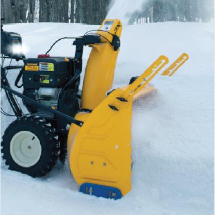 Cub Cadet three-stage snow blower, Drift Cutters, break down snow