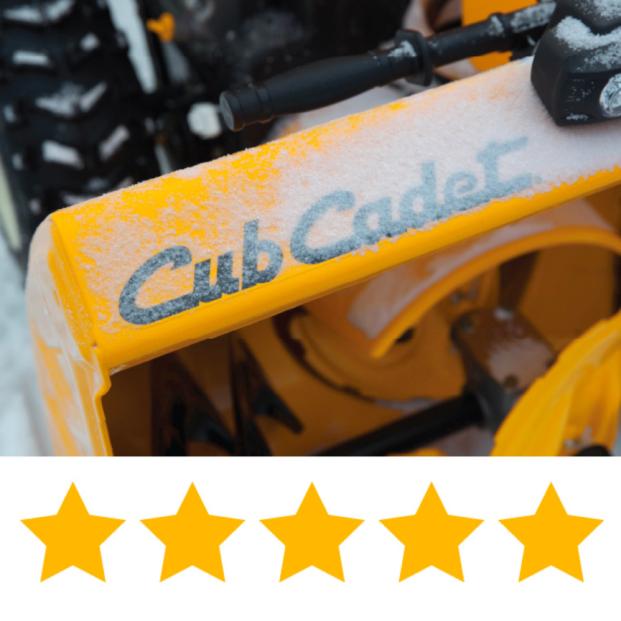 Cub Cadet two-stage snow blower, A+ snow throwing