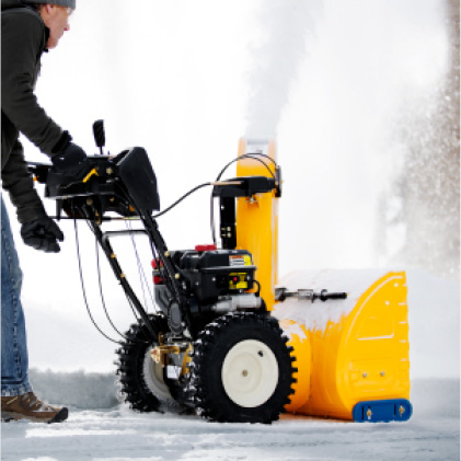 Cub Cadet two-stage snow blower, effortless control, single-hand operation
