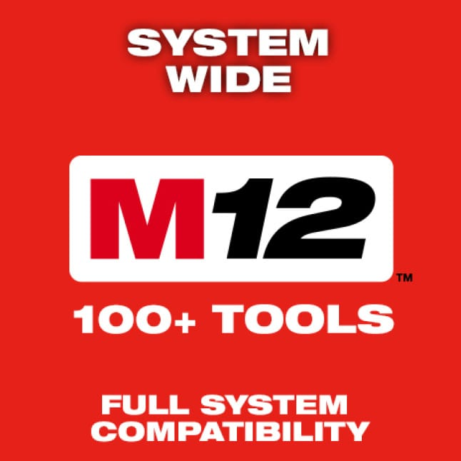 Milwaukee's automotive tools are part of the M12 System, featuring over 100 cordless solutions.