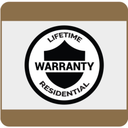 Lifetime Residential Warranty details available