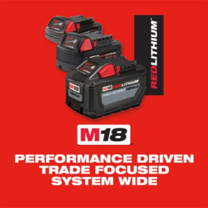 The Milwaukee M18 System features over 200 cordless tools