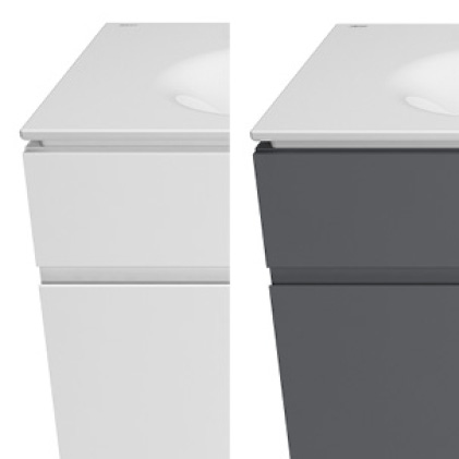 Studio S vanities in White or Dark Grey