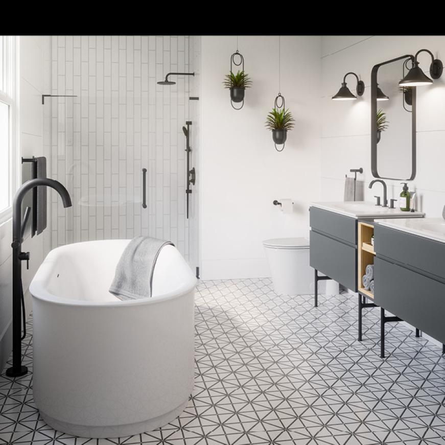 314729935 8726033.02 Studio S 33 in. Double Drawer Bath Van Complements the Studio S Suite