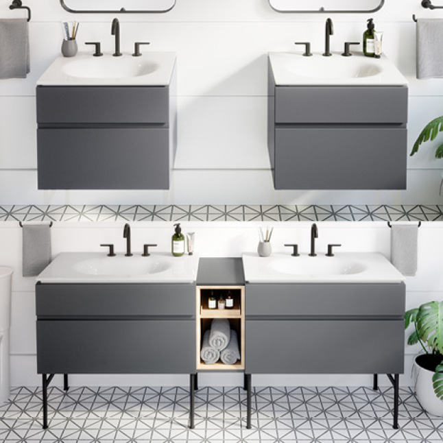 Studio S vanity installation options