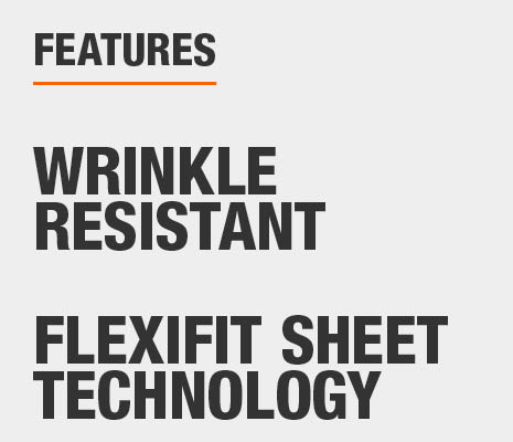 Bed sheets are Wrinkle Resistant and have FlexiFit Sheet Technology