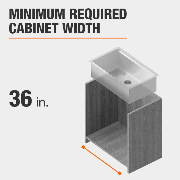 Minimum Required Cabinet Width 36 inches