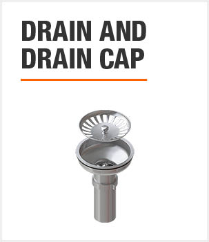 Included Drain and Drain Cap
