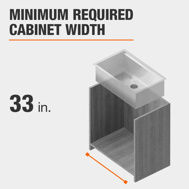 Minimum Required Cabinet Width 33 inches
