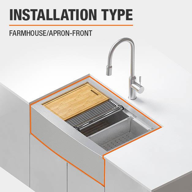 Sink Installation Type Farmhouse/Apron-Front