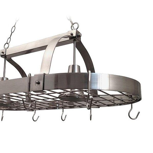 Elegant Designs 2 Light Brushed Nickel Kitchen Pot Rack