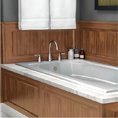 Moen Banbury 2 Handle Deck Mount High Arc Roman Tub Faucet