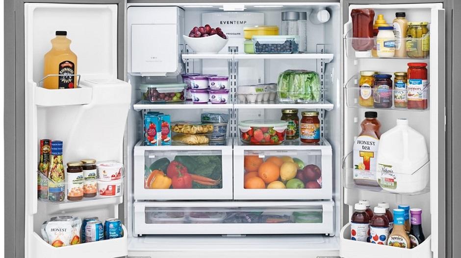 Fully stocked interior refridgerator