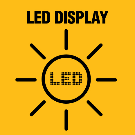 LED displays charge status.