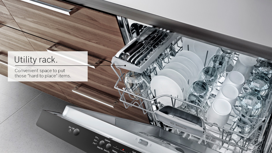 Bosch 100 series dishwasher utility rack