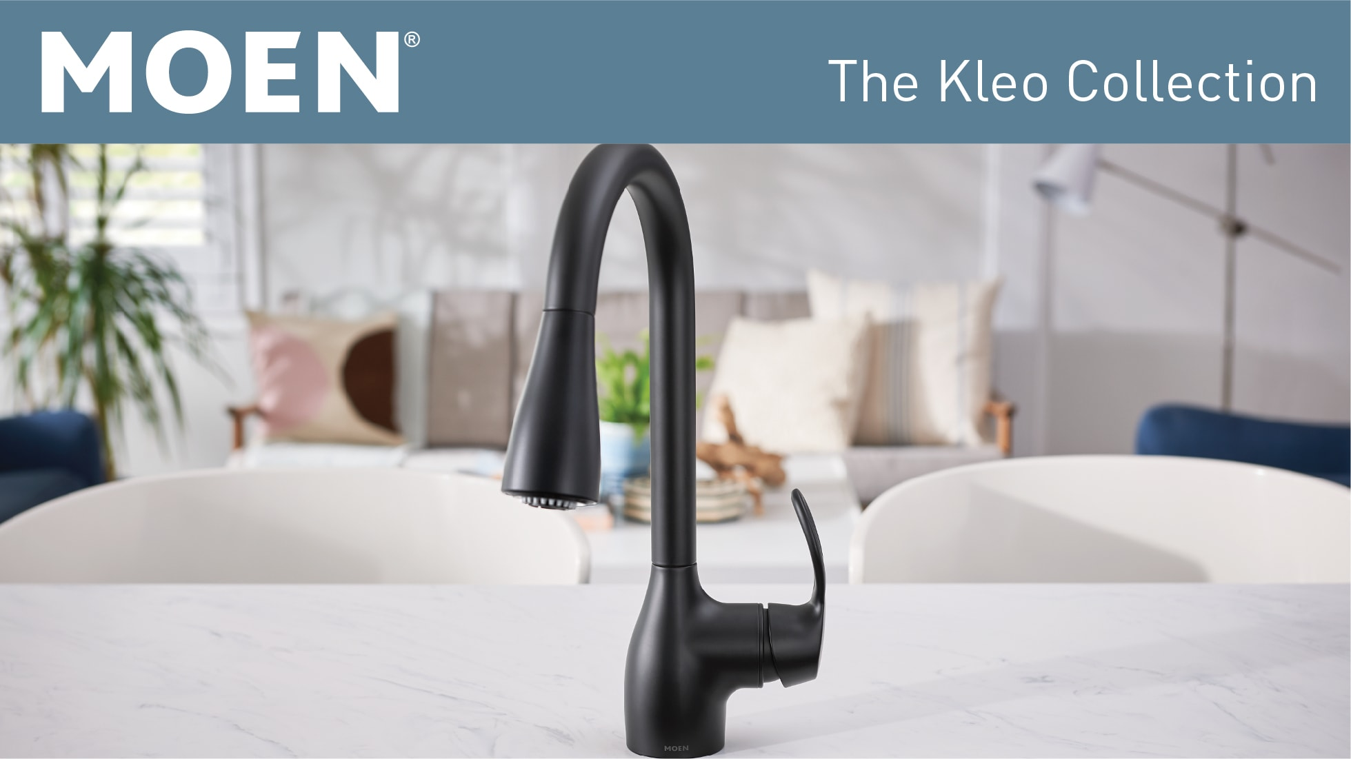 MOEN Kleo Single-Handle Pull-Down Sprayer Kitchen Faucet ...