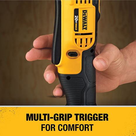 Multi grip trigger provides comfort and convenience and allows the user to get into tighter spaces while still having access to the trigger.