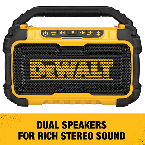 Enjoy rich stereo sound with extended bass from dual 3 in. speakers.