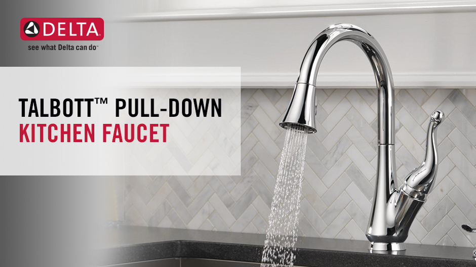 Delta Talbott Pull Down Kitchen Faucet