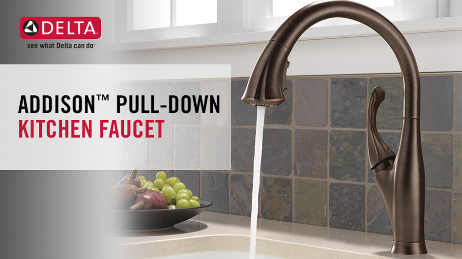 Delta Addison Single-Handle Pull-Down Sprayer Kitchen Faucet with ...