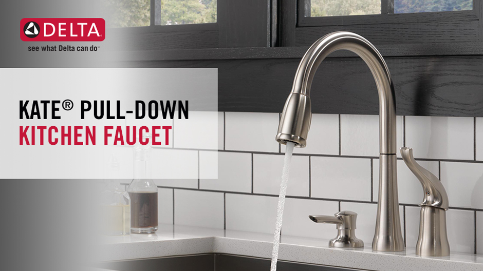 delta kate single handle pull down sprayer kitchen faucet with rh homedepot com delta kate single-handle pull-down sprayer kitchen faucet