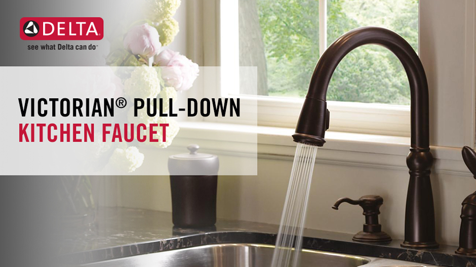 Delta Victorian SingleHandle PullDown Sprayer Kitchen Faucet With - Delta victorian kitchen faucet