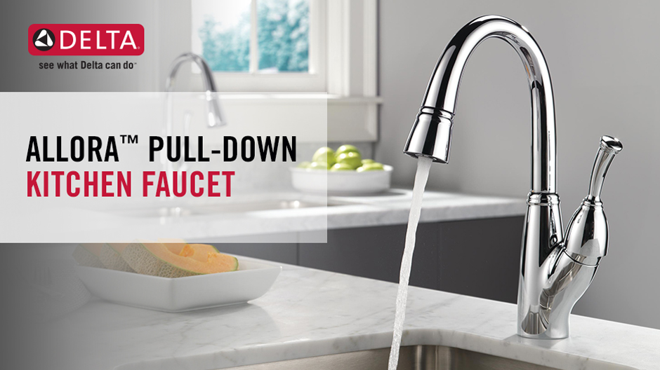 Allora Single Handle Pull Down Kitchen Faucet