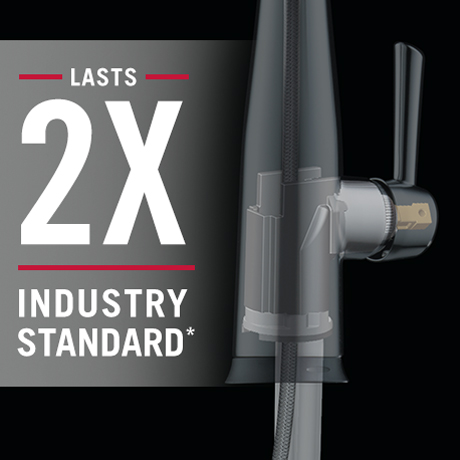 Faucet lasts twice as long as the industry standard