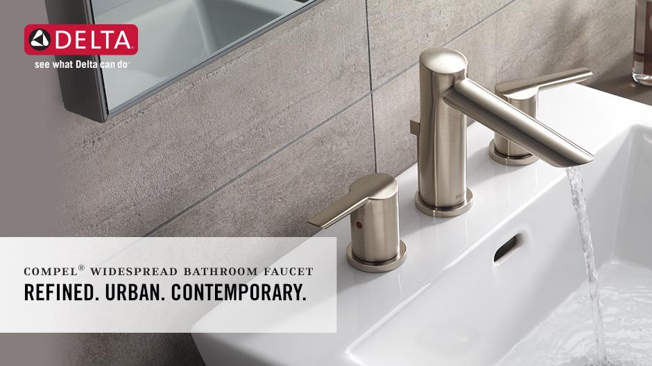 American Standard Chatfield 8 In Widespread 2 Handle: Delta Compel 8 In. Widespread 2-Handle Bathroom Faucet