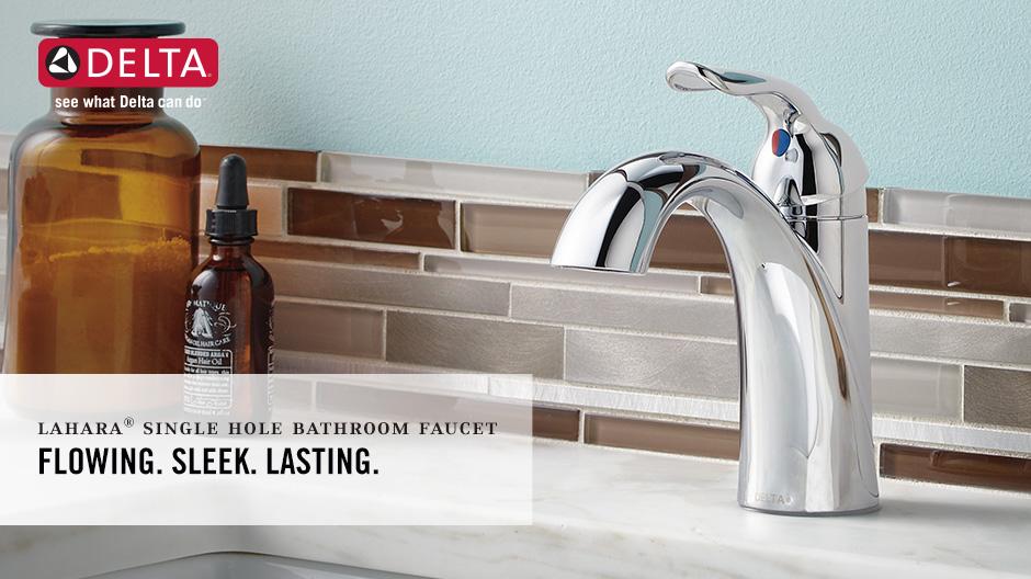 Delta Victorian 555lf Single Handle Centerset Bathroom: Delta Lahara Single Hole Single-Handle Bathroom Faucet