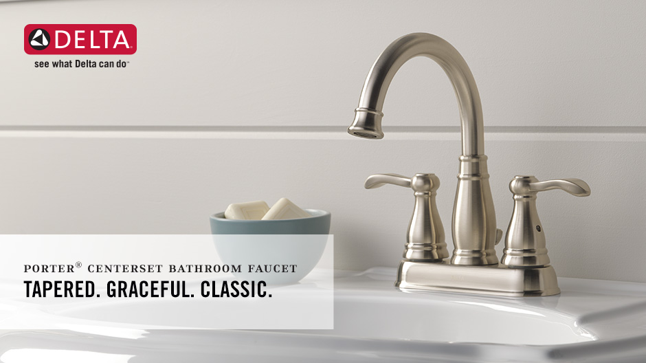 Delta Porter 4 in. Centerset 2-Handle Bathroom Faucet in Oil Rubbed ...