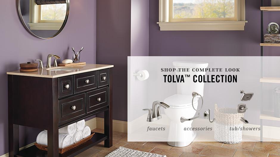Delta Porter 4 In Centerset 2 Handle Bathroom Faucet With: Delta Tolva 4 In. Centerset 2-Handle Bathroom Faucet In
