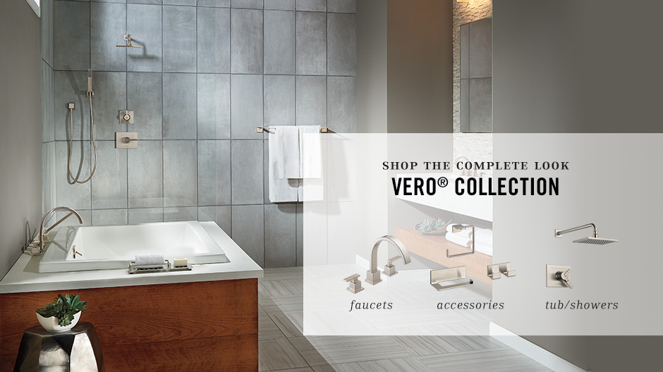 Delta Vero 8 In Widespread 2 Handle Bathroom Faucet With